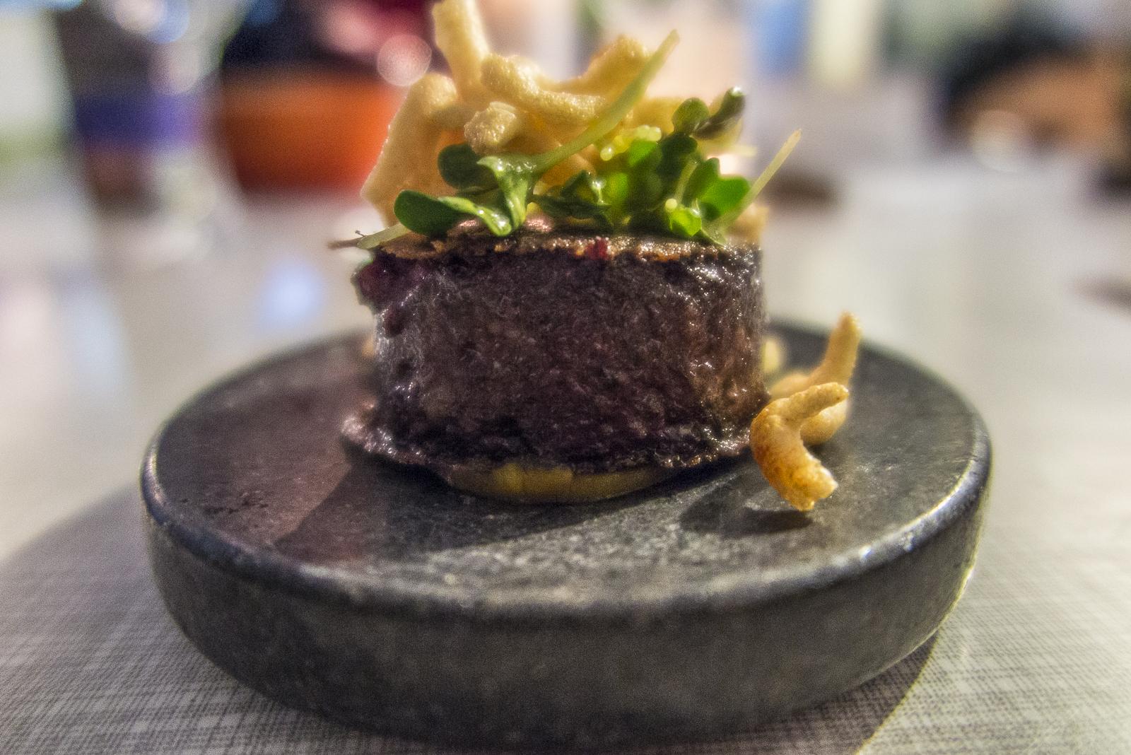 Blutwurst / Aprikose / Kartoffel